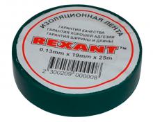 Изолента 19мм х 25м зеленая REXANT
