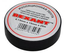 Изолента 15мм х 25м черная REXANT