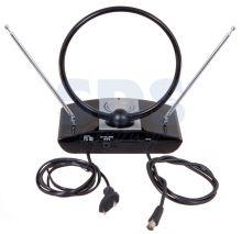 Комнатная антенна REXANT RX-938 VHF, UHF, FM, 40-862 MHz с усилителем 42dB