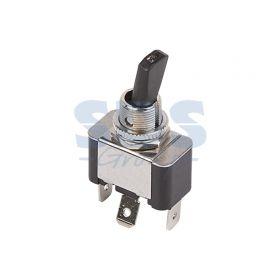 Однополюсный тумблер 12V 30А (3c) ON-OFF с красной подсветкой LED (ASW-07D-2) (блистер)