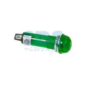 Зеленый граненый индикатор D10.2 220В (RWE-205)