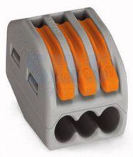 222-413 Универсальная многоразовая 3-проводная клемма (0,08-2,5 (4) мм2) 50шт. WAGO