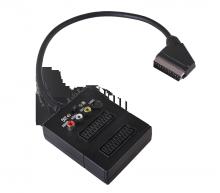 Переходник SCART - 2гн.SCART + 3гн.RCA + гн.S-видео (с переключателем) REXANT