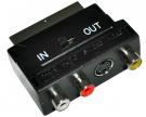 Переходник SCART - 3гн.RCA + гн.SVHS (с переключателем) REXANT
