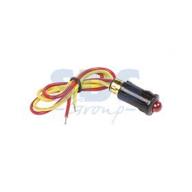 Красный малый индикатор D8 12В с проводом (WL-04)